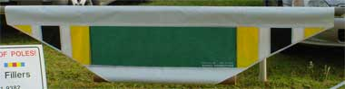 Tapered Filler - Green, White, Yellow, Black