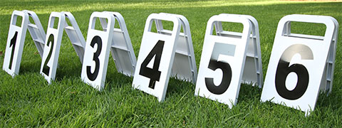 Jump Numbers / Dressage Letters